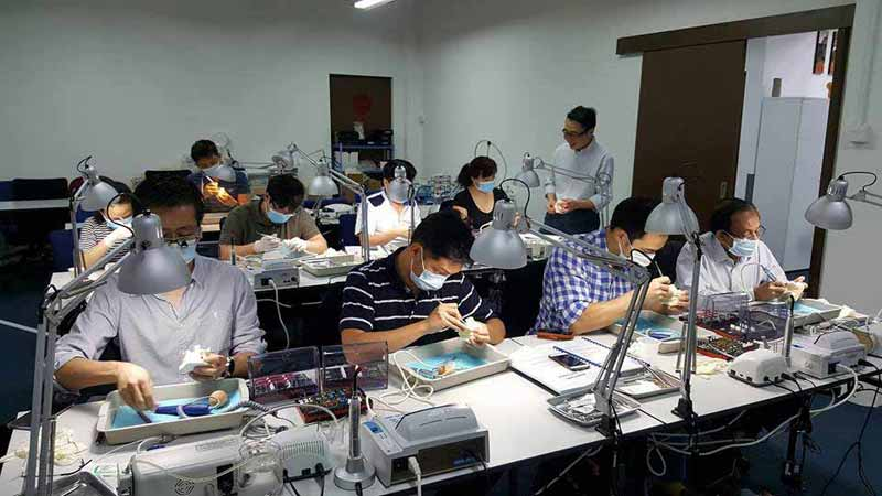 Live implant training course